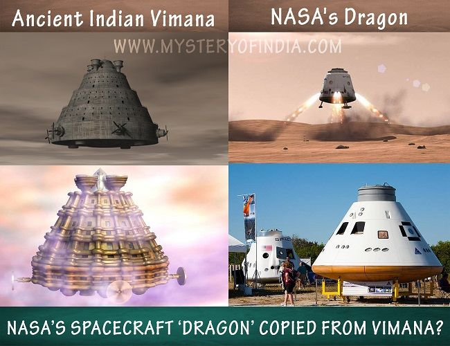 Nasa's Spacecraft copied from Ancient Indian Vimana