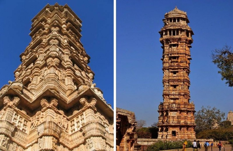 Architecture of Towern Of Victory Rajasthan