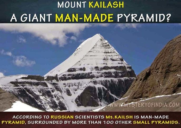 Mount kailash is a man made pyramid
