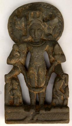 A 12th Century Vishnu idol found during the excavation.