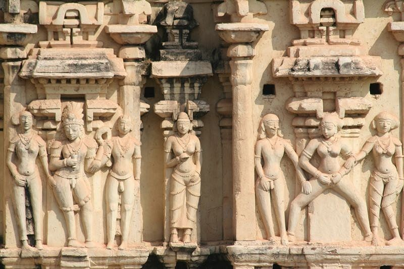 erotic carvings at Virupaksha Temple
