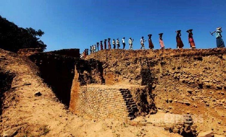 Ancient Telhara University ruins in India