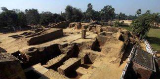 Ruins of Telhara University, Bihar, india