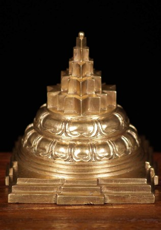 bronze Sri Yantra Pyramid