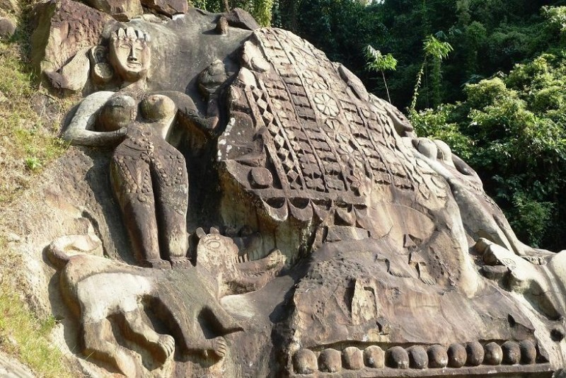 Stone Carvings at unakoti