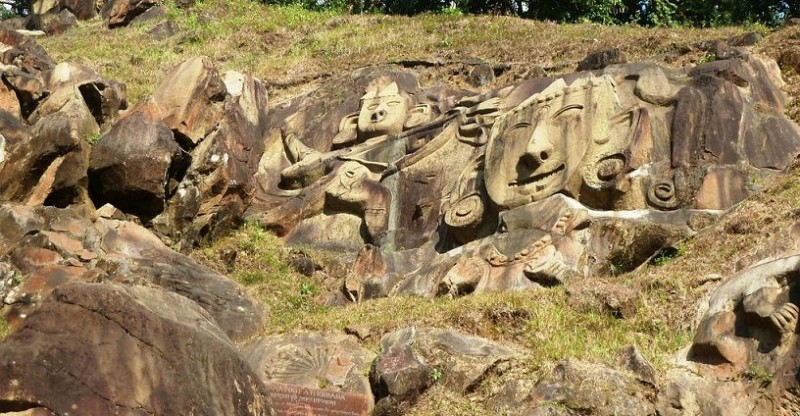 Carvings at Unakoti, Tripura