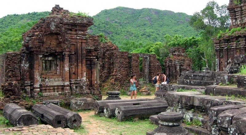 Ruins of My Son Sanctuary, a Hindu temple in Vietnam