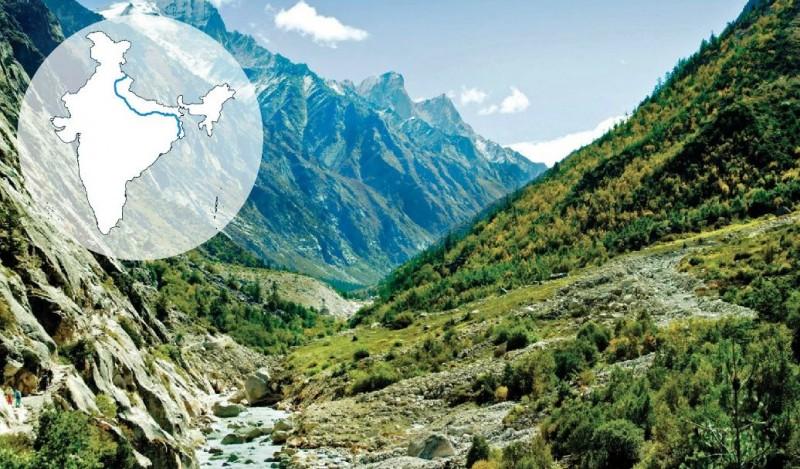 Ganga Originates in the western Himalayas in Uttarakhand, India