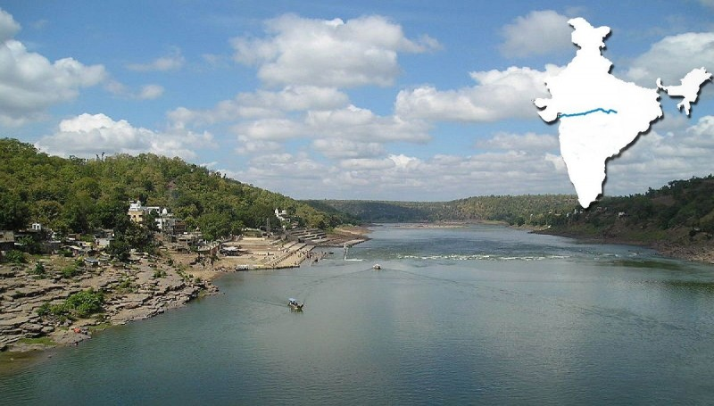 Narmada river in Omkareshwar