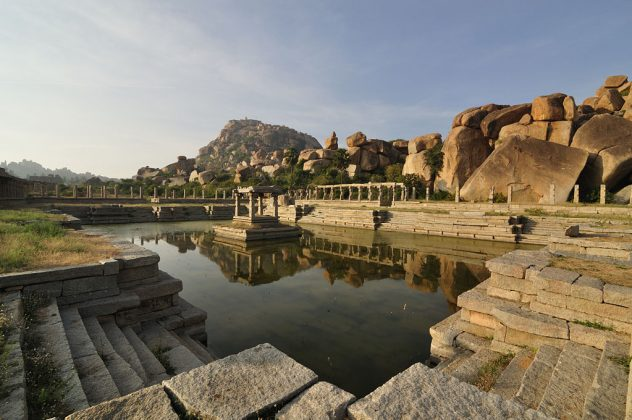 Dancing Girls Bath located on the ancient Courtesan Street at Hampi