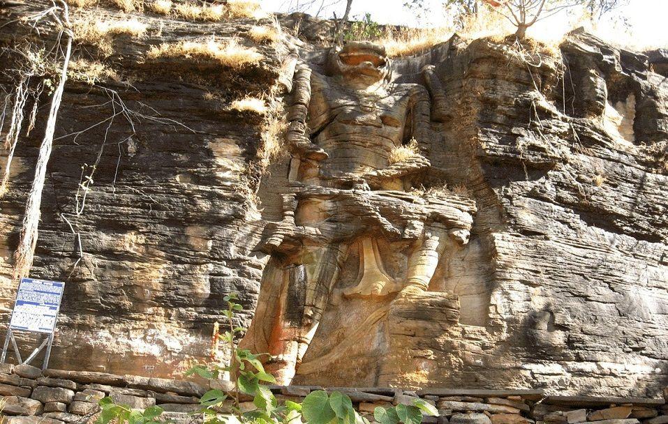 rock cut mountain statue of lord narasimha mystery of india