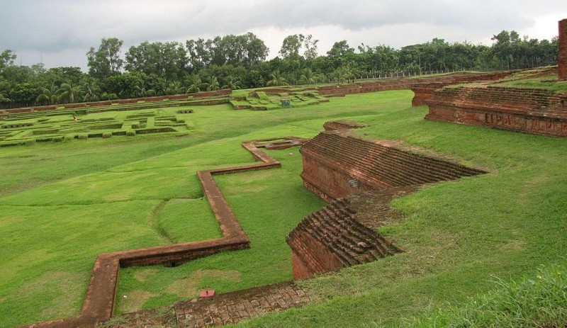 First level plinth at Somapura Mahavihara