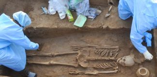 four Human Skeletons found in Rakhigarhi, Harappan site in Haryana