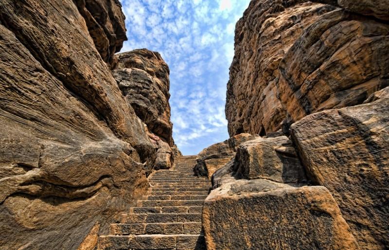 Badami Cave Stairway