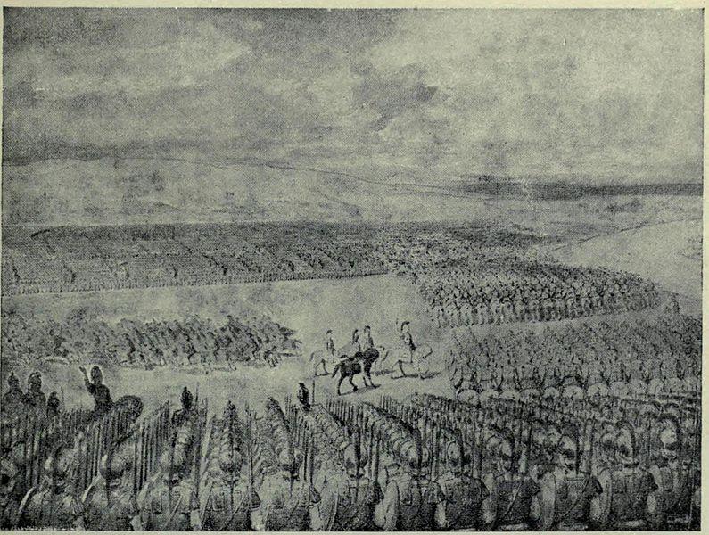 Porus awaits the attack of Alexander july 326 B.C