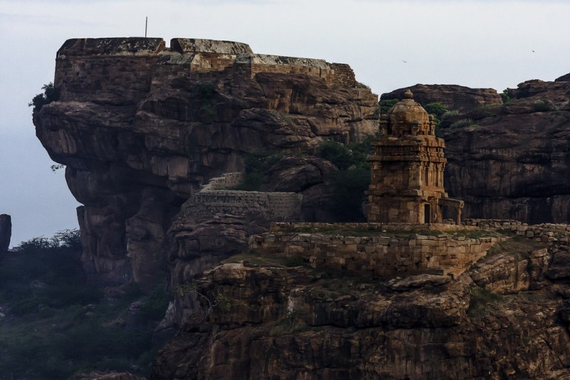 Temple atop the Badami caves