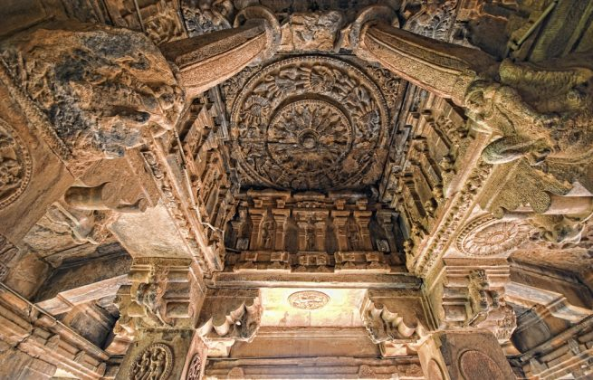 Badami caves Carvings