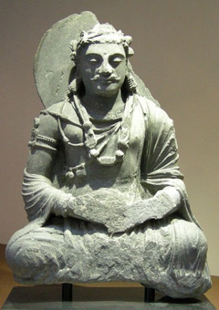Bodhisattva seated in meditation. Afghanistan, 2nd century CE