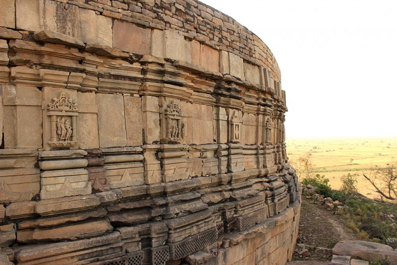 Chausath Yogini temple Outer walls