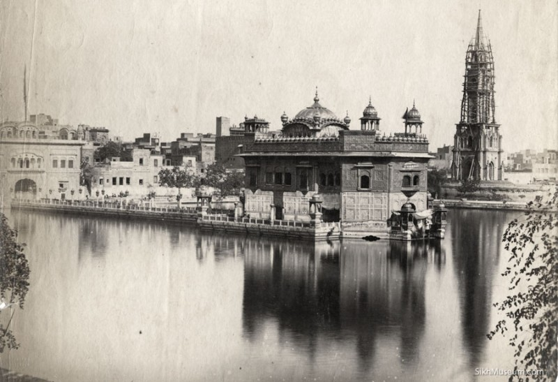 Darbar Sahib with Clock Tower under construction