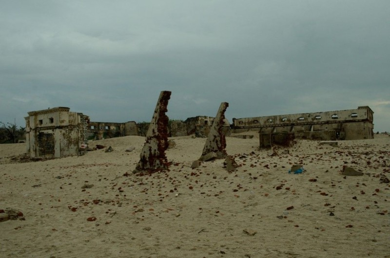 Ghost town of India: Dhanushkodi, Tamil Nadu