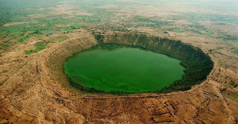 Lonar Lake is a saline soda lake located at Lonar in Buldhana district, Maharashtra, India