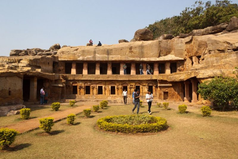 Top 15 Rock cut structures: Udayagiri and Khandagiri Caves, India