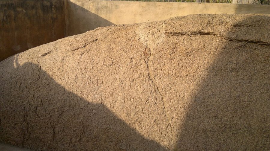 Ashoka's Edict at Gujarra, Madhya Pradesh