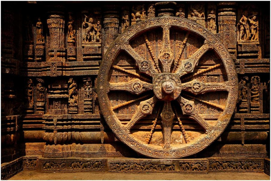 The Wheel of Life at Sun Temple Konark