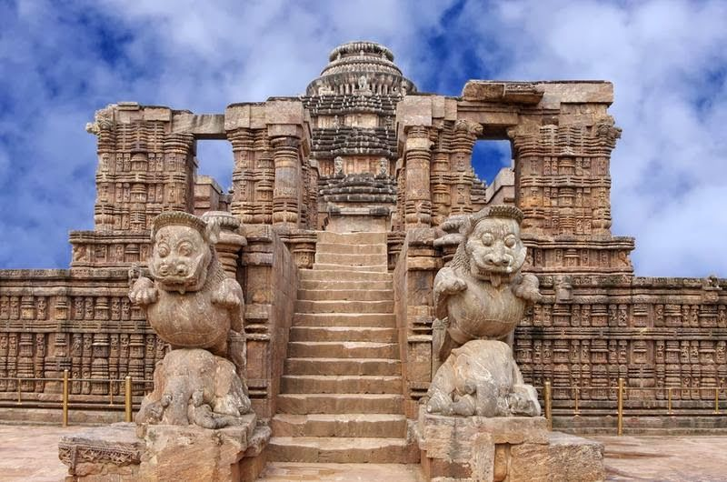 Entrance of Konark Sun Temple Guidede by Lions