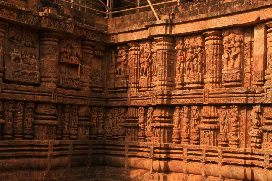exquisite stone sculptures at Sun Temple Konark