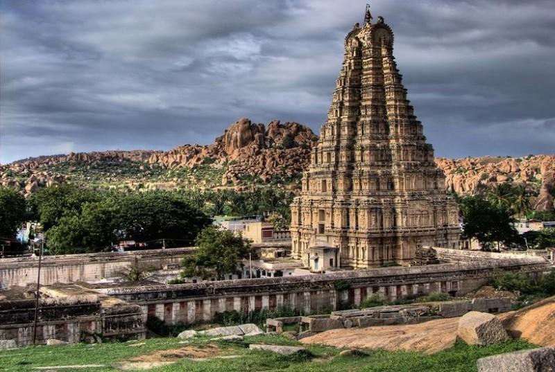 Image result for the ancient Virupaksha temple at Hampi