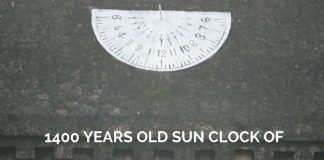 1400 Years Old sun clock of Chola Empire