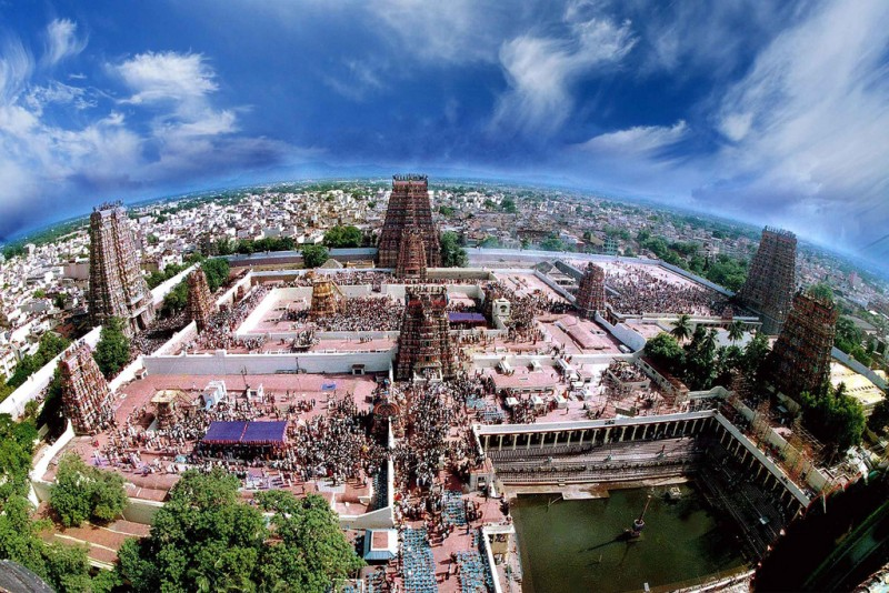 Madurai Meenakshi Temple top