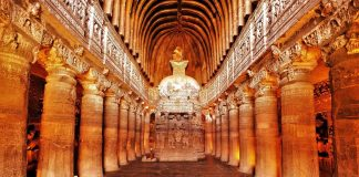 Top 15 Rock cut structures: Ajanta Caves Caves, India