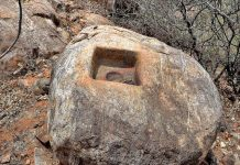 The Buddhist remains discovered from a hill top at Vaikunthapuram village in Amaravati region.